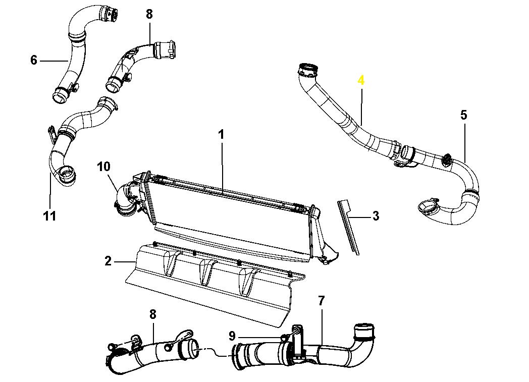 manicotto flessibile aspirazione intercooler jeep compass
